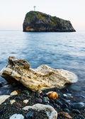 фото пейзаж скал в море — Стоковое фото