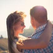 Couple in love outdoor — ストック写真
