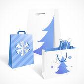 Festive paper bags — Stockvektor