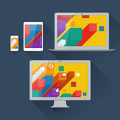 Vector illustration of user interface on digital devices — Stock Vector