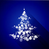 Christmas tree made of light particles. Flat design — Stock Vector
