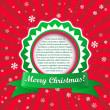 Christmas applique background. Vector illustration with frame fo — Stock Vector