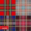Set of seamless tartan pattern  — Stock Vector