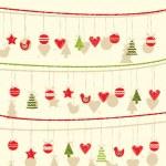 Retro Christmas Garland Background — Stock Vector #34319373