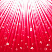 Christmas texture with shining snowflakes and rays — Stock Vector