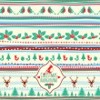 Stock Vector: Vintage vector Christmas pattern