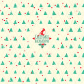 Merry Christmas festive background. Vector Christmas tree — Stock Vector