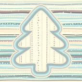 Christmas pattern in light pastel colors — Vector de stock