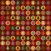 Seamless mönster med julgranar — Stockvektor