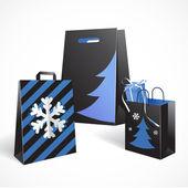 Sacos de papel festivo — Vetorial Stock