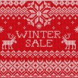 Winter sale: Scandinavian style seamless knitted pattern with de — Stock Photo