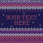 Skandinavisk stil sömlös stickad mönster. färger: rosa, blå, — Stockvektor