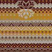 Scandinavian style seamless knitted pattern. Colors: yellow, whi — Vetorial Stock