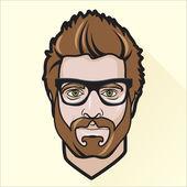 Flat design man's portrait — Stock Vector