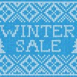 Winter sale: Scandinavian style seamless knitted pattern with de — Vettoriali Stock