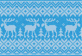Scandinavian style seamless knitted pattern with deers — Stock Vector