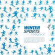 Winter extreme sport pattern with place for your text — Stock Vector #36218267