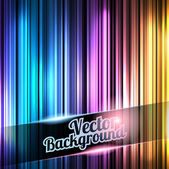 Colorful and shiny stripes background. With place for your text — Stock Vector