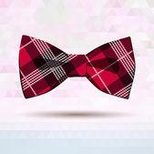 Red Tartan bow-tie — Stock Vector