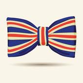 Britain flag bow-tie — Stock Vector