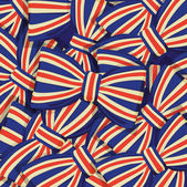 Pattern of Britain flag bow-tie — Stock Vector