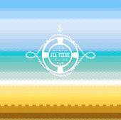 Graphic pattern. Sea theme — Stock Vector