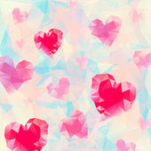 Triangle heart background — Stockvektor