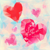 Triangle heart background — Stockvector