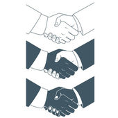 Handshake. Flat style — Stock Vector