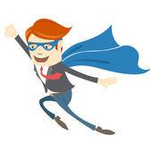 Office superman flying  — Stock Vector