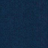 Knitted blue background — Stock vektor
