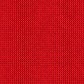 Knitted red background — Stock Vector