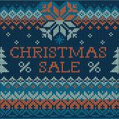 Ilustração da venda de natal: escandinavo estilo tricô sem costura — Vetorial Stock
