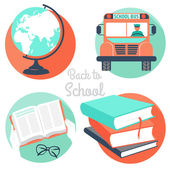 Vector Illustration back to school icons  — Vecteur
