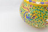 黄瓷罐 — 图库照片