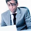 Burning out of stressed manager at the office — Stock Photo #20099595