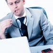 Businessman highly concentrated at work — Stock Photo