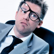 Stockfoto: Funny manager stressed at work