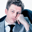 Stockfoto: Tired businessmat office