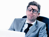 Freak out of crazy manager at the office — Stock Photo