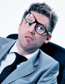 Funny manager stressed at work — Stock Photo