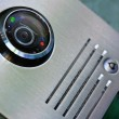 Stock Photo: Video intercom in entry of house