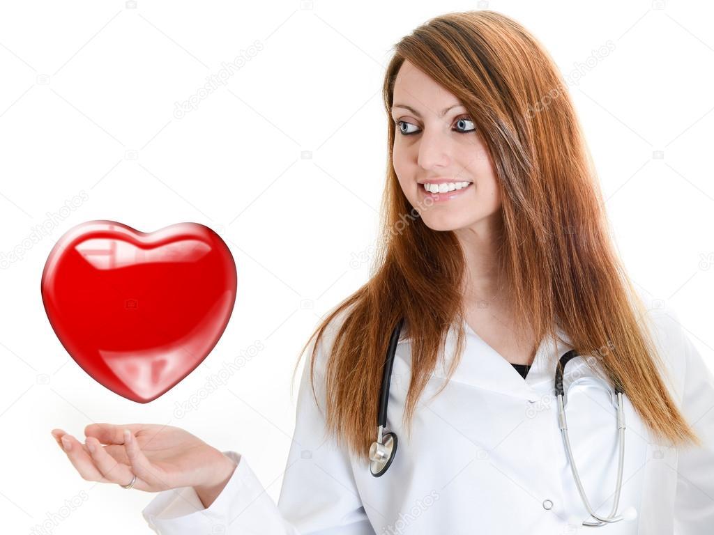 Doctor Listening to Heartbeat Listening Heartbeat