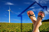 Green ecological house — Stock Photo