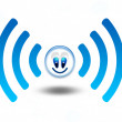 Wireless network funny symbol wifi — Stock Photo
