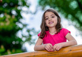 Natural pretty little girl — Stock Photo