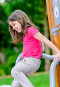 Cute child on a playground — Stock Photo