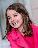 Cute portrait of a happy pretty little girl — Stock Photo