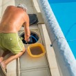 Maintenance of the pumping system of a pool — Stock Photo