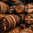Cognac barrels more than 100 years old — Stock Photo